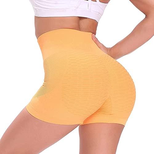 Leggins Mujer de Yoga Pantalones Cortos Mujer Deportivos de Color Liso Shorts Mujer Deporte Cintura Alta Pantalón Corto Mujer Absorbentes y Transpirables Leggings Ideal para Fitness Correr Pilates