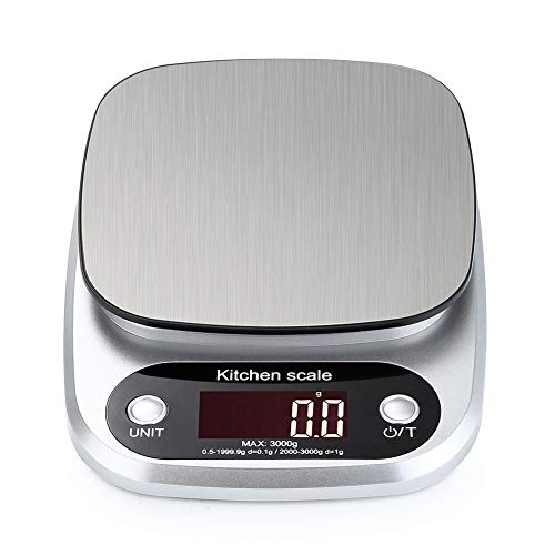 tubc Digitalwaage 5 kg / 1G Digital Electronic Kitchen Food Diätwaage Weight Balancer Home LCD Digital Electronic Waage