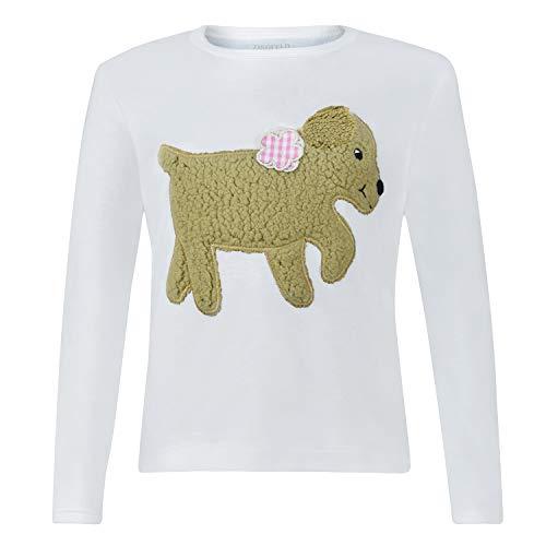 Camisa Linda de Manga Larga para niños con Perro Gatito (116)