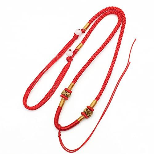 QJJ Correa para el Cuello con cordón, Correa para cordón de Nailon, Utilizada para Jade, Tarjetero/teléfono móvil/Mini Notebook/cordón para Llaves, Modelos para Hombres y Mujeres (Rojo)