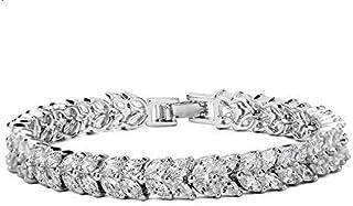 Jewelry 18K white gold Plated elegant luxurious diamonds bangle crystal Charm Bracelet for women