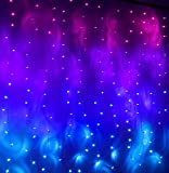 Pink Purple & Blue Ombre Fairy Curtain Lights with Dimmer Switch, Ombre Rainbow LED Icicle String Curtain Lights for Girls Room, Bedroom, Teen Room, Kids Room, Wedding, Holiday, Mermaid Décor