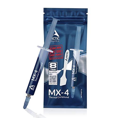 CPUグリース mx-4 グリス 絶縁タイプ熱伝導グリース cpu シリコングリス ARCTIC MX-4/4g ヘラ付き 塗りやすい 伸びも良い