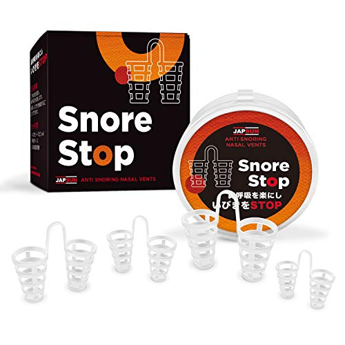 Snore Stopper Solution - Anti Snoring Nose Vents - Set of 4 Nasal Dilators - Natural Stop Snoring Devices - Reduce Snoring