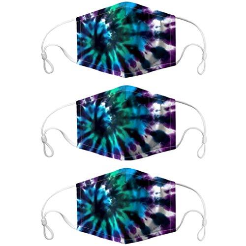 MRULIC Mundschutz Gesichtsschutz Face Cover Motorrad Winddicht Atmungsaktiv Bandana Unisex Halstuch Schal 3D Print Mund-Tuch Mundbedeckung Anti-Staub(C11)