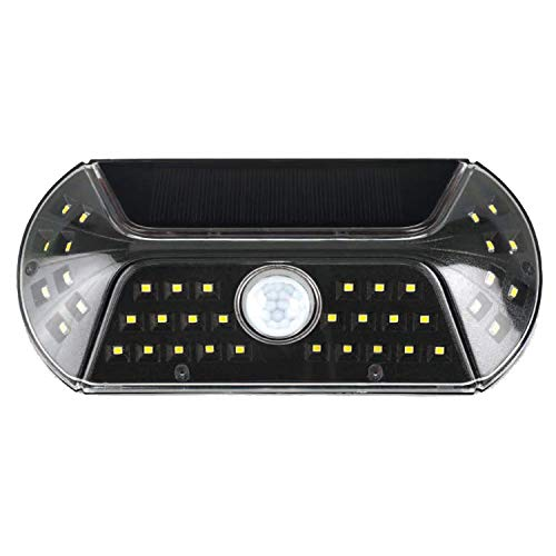 キシマ ビジル ソーラー人感センサーライト Black サイズ:約W190 D40 H90 KL-10378