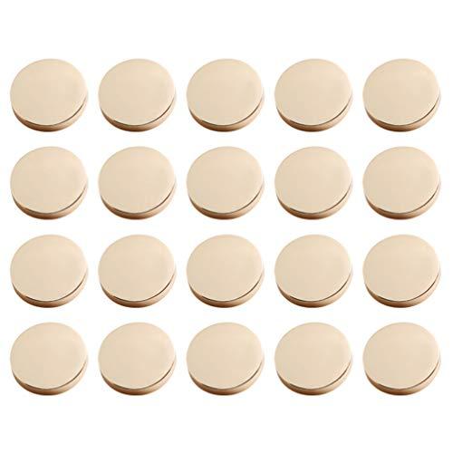 Healifty Chaqueta de Botón Plano de Metal de 30 Piezas Botón de Camisa Pantalón de Traje Botón de Abrigo...