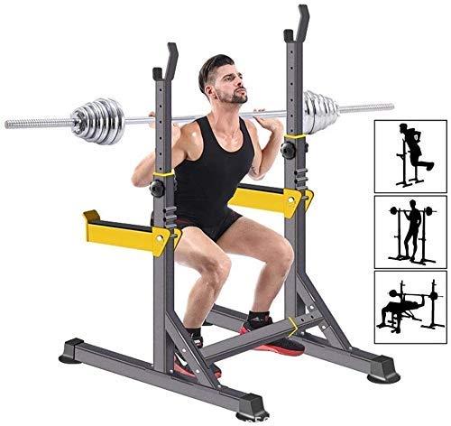 Tcylz. Einstellbare Gewicht Bank Hantel-Squat-Rack-Stand-einstellbare Höhe Massivstahl-Bank-Pressen einstellbarer robuster robuster robuster Squat-Rack, Multifunktionsständer-Bank-Press-Barbell-Stände