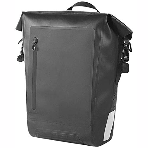SHIZPHH Bags for Bike - Waterproof Bicycle Rear Seat Panniers Pack Reflective Stripe 20L (Black)