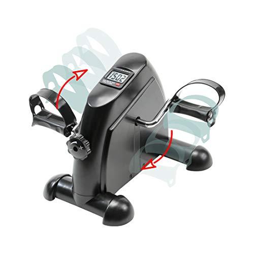 zoomyo Peak Power Arm-und Beintrainer Mini Bike Semi-Profi, kompaktes Heimtrainer Fahrrad zur Kräftigung der Arm- und Beinmuskeln, Fitness Fahrrad mit Trainingscomputer und einstellbarem Widerstand