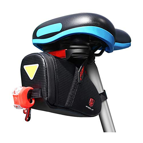 CS Force Bike Seat Bag, Waterproof Cycling Seat Pack with LED Taillight, 1.5L Bicycle Bag Under Seat...