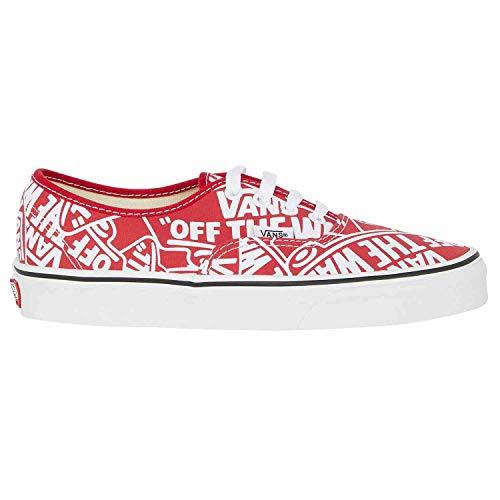 Vans U Authentic, Zapatillas unisex, color Rojo, talla 36 EU