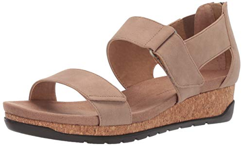 Adrienne Vittadini Footwear Women's Taytum Sandal, Light Taupe, 8 M US