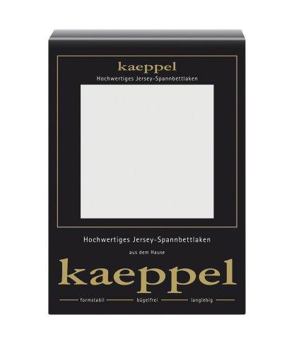 Kaeppel Spannbettlaken, Jersey, Grau, 200 cm x 200 cm, 6