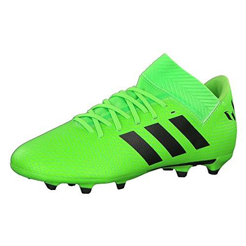 Adidas Nemeziz Messi 18.3 FG J Botas de fútbol, Unisex Adulto, Verde (Versol / Negbás 000), 38 2/3 EU (5.5 UK)