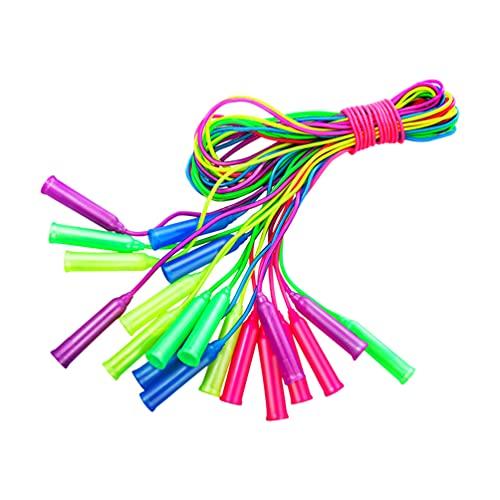 TOYANDONA 12Pcs Kinder Springseil Kunststoff Bunte Jump Seil Springen Seil für Jungen Mädchen Kinder Studenten Übung Cross Training Party Gefälligkeiten Zufällige Farbe