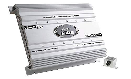 Premium Lanzar Car Audio, Amplifier Car Audio, Car Stereo Amplifier, 2,000 Watt, 2 Ohm, Mosfet Amplifier, RCA Input, Subwoofer Bass Control, Power Amp, LED Indicator, Car Electronics - VIBE422.5