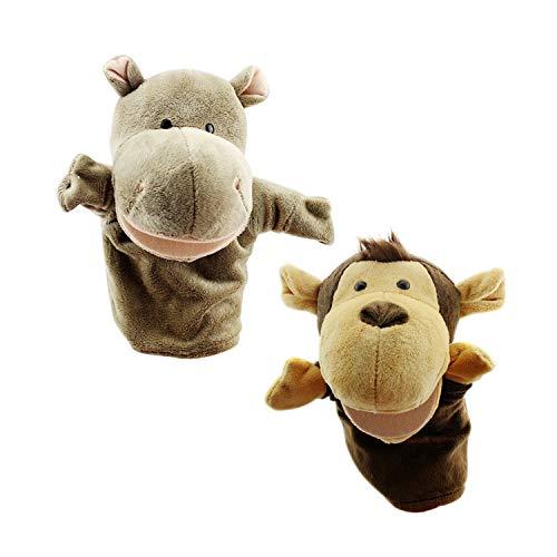 Feiwen Juguetes Marionetas Mano Felpa Suave Hipopótamo
