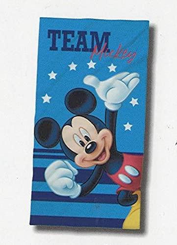 Telo Mare o Piscina Disney 100% Spugna di puro cotone Cinigliata Bimbo Bimba (Mickey Mouse)