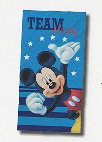 Toalla de playa o piscina Disney 100% rizo de puro algodón chinilla, para niño y niña (Mickey Mouse)