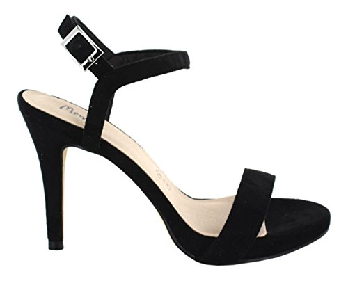 Menbur High Heel Sandaletten Velours schwarz, Farbe:schwarz, Schuhgröße:37