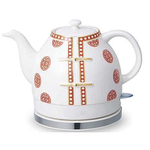Bouilloires électriques en céramique Bouilloire sans fil Teapot-Retro 1L Jug, 1200W eau rapide for thé rapide (Couleur: B) 8bayfa (Color : A)