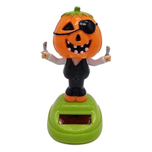 Halloween Kürbis Auto Zubehör Solar Puppe Schwingen Tänzerin Spielzeug Auto Dekoration Innen Kinder Spielzeug Solor Powered Tanzen Tier