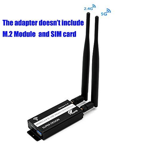 LeHang NGFF (M.2) auf USB 3.0 Adapter mit SIM Karten Slot für WWAN/LTE / 4G Module