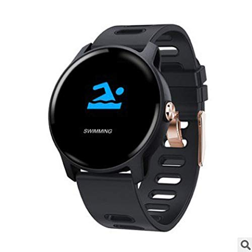 HDJX Smart armband, hartslag, bloeddruk, waterdichte stappenteller, multi-sport informatie push watch, informatie herinnering waterdicht horloge, size, Grijs