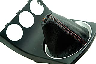 Autoguru Real Leather Handle E Brake Boot Cover Made for 1984-1991 BMW E30 Red Stitch