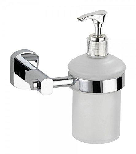 Wenko Seifenspender Assoro - Zink (verchromt) - Spender für Seife oder Lotion - Flüssigseife Dispenser - Shampoospender