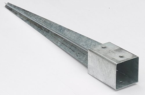 Bodenhülse Einschlaghülse 90 mm Pfosten-träger 75 cm lang für Holzzaun Gartenzaun