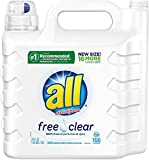 all Liquid Laundry Detergent, Free Clear for Sensitive Skin, (Free Clear, 237 Fluid Ounces)