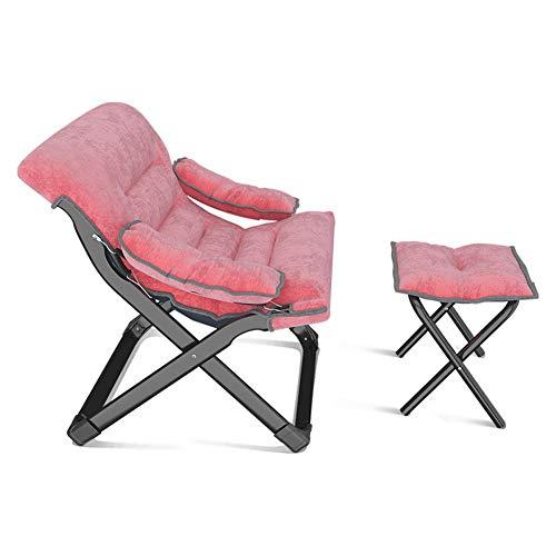 GXYAS Reclinable al Aire Libre,Sillones de Oficina, sillas Plegables,Sillón reclinable Plegable Almuerzo Siesta Silla Ocio Lazy Silla Plegable portátil