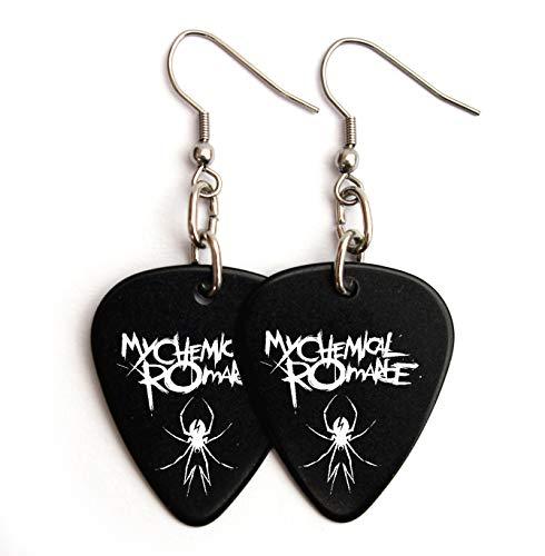 My Chemical Romance Guitar pick plectrum logo Earrings (BW)
