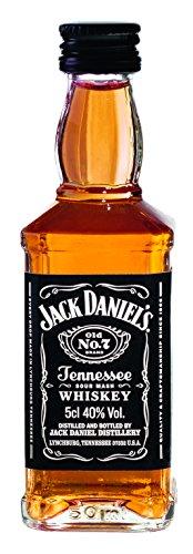 Jack Daniel's Old No.7 Tennessee Whiskey - 40% Vol. (10 x 0.05 l) / Durch Holzkohle gefiltert. Tropfen für Tropfen