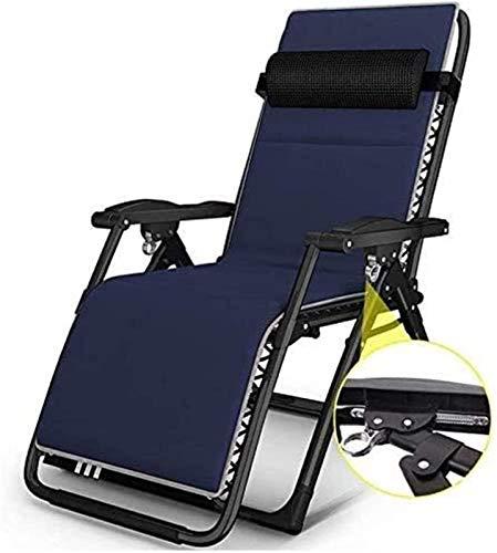 Recliner Recliner Outdoor-Stuhl, Garden Lounger Lightweight, Outdoor Reclining Deck Chairs, Klappbarer Gartenstuhl, Living Room Arm Chair (Farbe: Mit schwarzen Kissen)