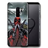 Hard Case Cover with Deadpool Design Compatible with Samsung Galaxy S9 Plus (dead2)
