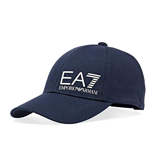 EA7 Emporio Armani Core Train Logo baseball Cap - Blue Navy-One Size