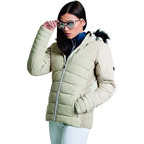 Dare2B Damen Skijacke Curator, wasserdicht und atmungsaktiv, isoliert XL Macchiato