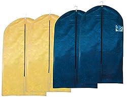 4 Stück Kleidersack - Kleiderhülle Atmungsaktiv mit Sichtfenster & Reißverschluss - Maße: ca. 105 x 60 cm