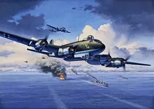 Puzzle de 1000 Piezas para Adultos,Aviones Militares de la Segunda Guerra Mundialde Impresión de Alta Definición, Intelectual de descompresión Divertido Juego Familiar para niños Adultos