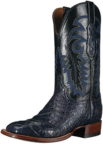 Lucchese Bootmaker Men's Limited Edition Western Boot, Navy, 9 D US