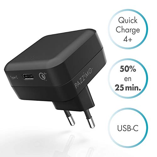 PAZZiMO con Quick Charge 4+ con cable USB C