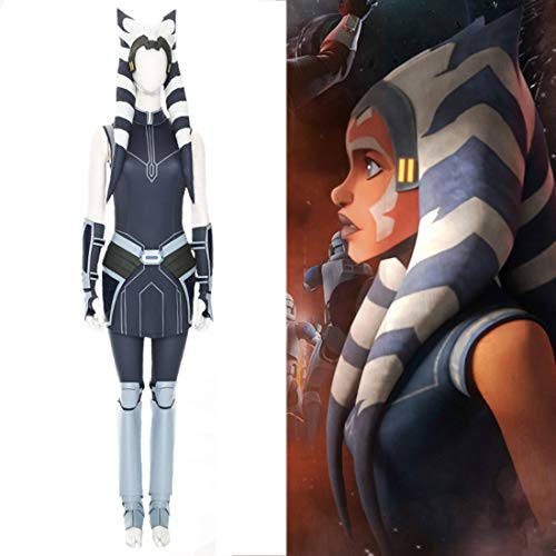 Rubyonly Star War The Clone Wars Staffel 7 Ahsoka Tano Cosplay Halloween Partei Kostüme Superheld-Ausstattungs-Abend Frauen Anzug,XXL