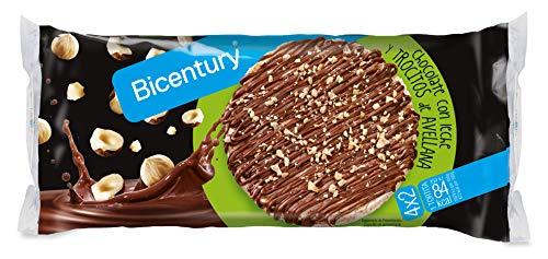 Bicentury Tortitas de Arroz con Chocolate con Leche y Avellanas, 198g