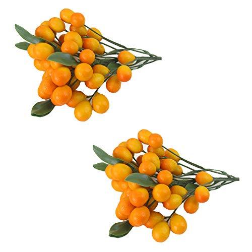 Künstliche Kumquat Sets für Haus Haus Küche Party Dekoration 2 Sätze