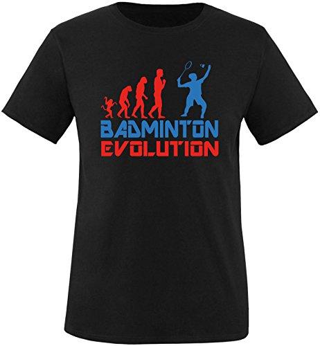 EZYshirt® Badminton Evolution Herren Rundhals T-Shirt