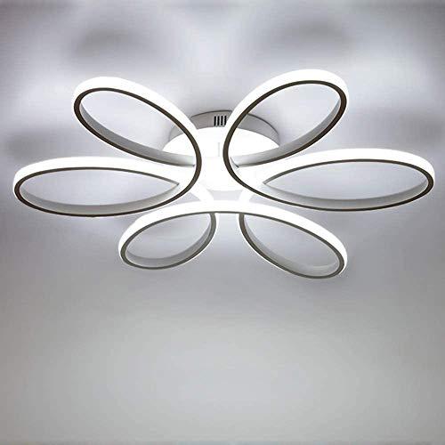 Lámpara De Techo LED De La Forma 85W Creativo De La Flor De Acrílico Techo De La Pantalla De Aluminio 6000K Luz Blanca De La Sala De Techo Lámpara Cama L59cm * H11cm [De Eficiencia Energética A ++]