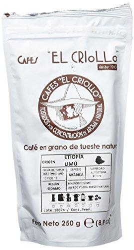 Cafés El Criollo Café en Grano Etiopía Limú - Paquete de 4 x 250 gr - Total: 1000 gr
